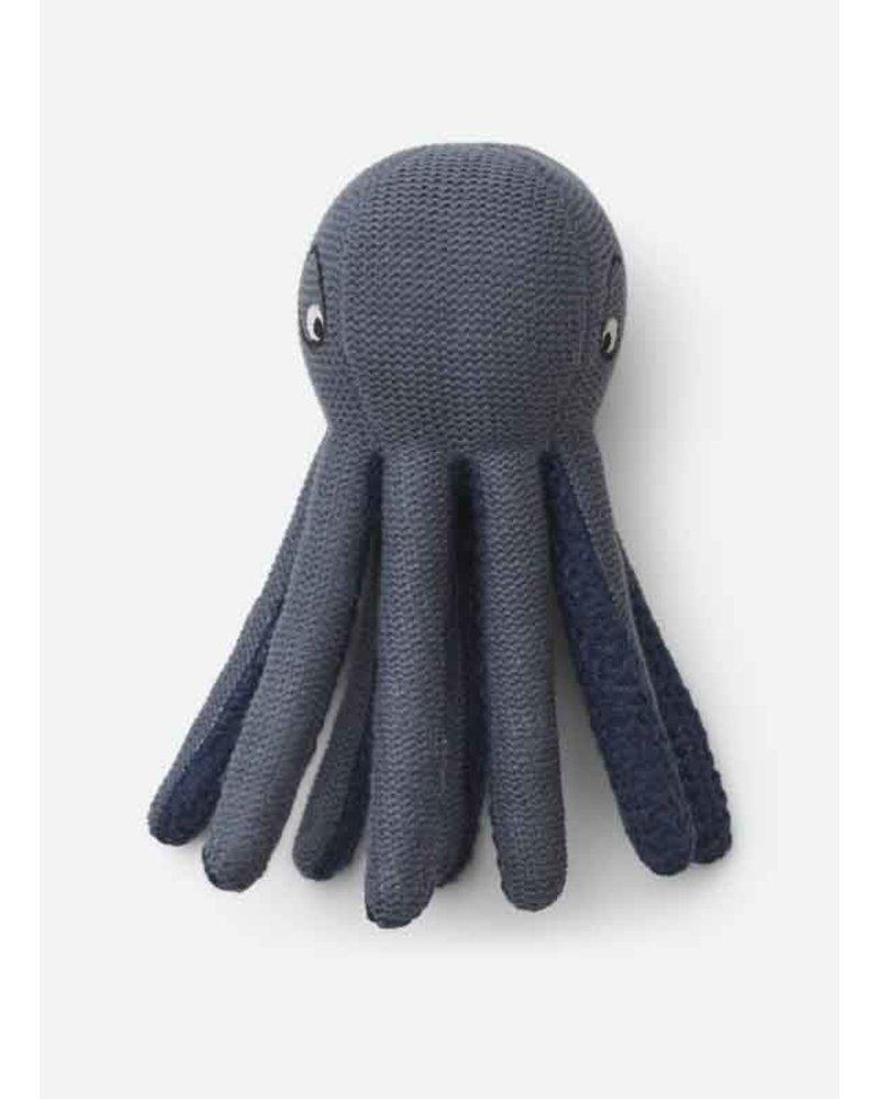 Liewood ole knit mini teddy octopus blue wave