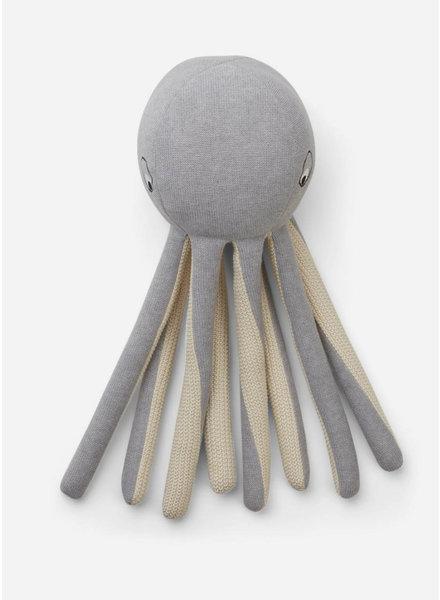 Liewood helmer knit teddy octopus grey melange