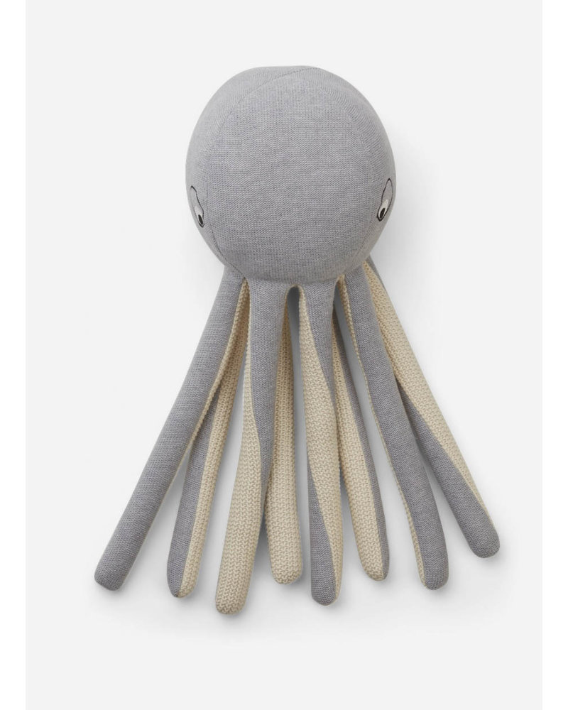Liewood helmer knit teddy octopus grey melange