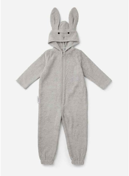 Liewood taylor jumpsuit rabbit dumbo grey