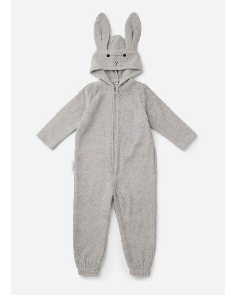 Liewood taylor jumpsuit rabbit dumbo grey