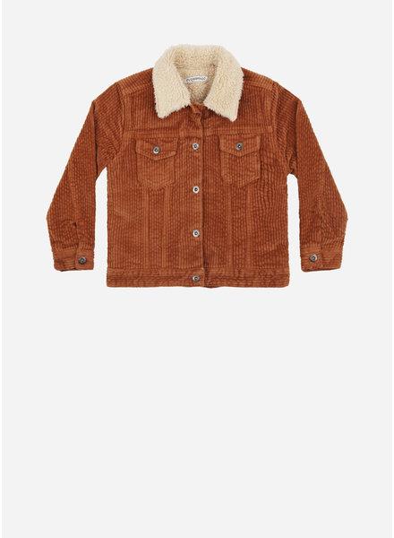 Mingo oversized jacket leather brown