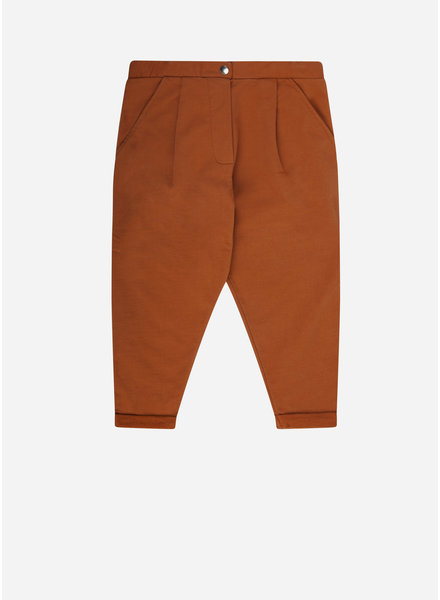 Mingo cropped chino leather brown
