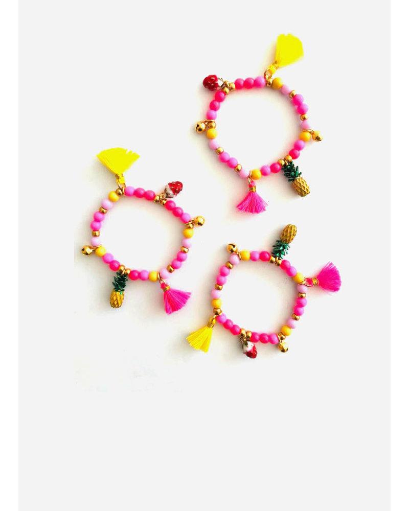 ByMelo armband roze geel fruit