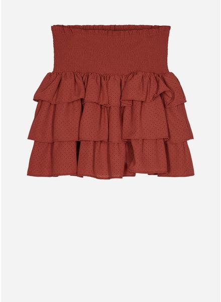 Designer Remix Girls byron ruffle skirt ox blood