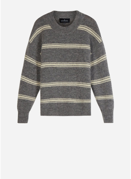 Designer Remix Girls tyler mini stripe dark grey melange