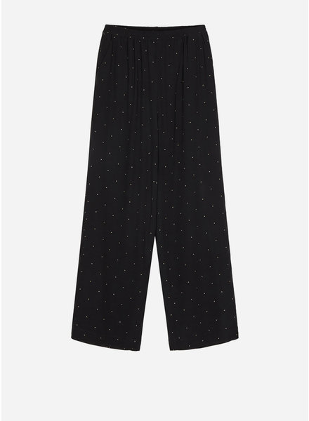 Designer Remix Girls leana pants black yellow dot
