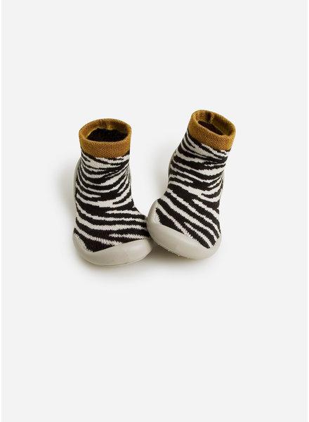 Collegien sloffen zebra