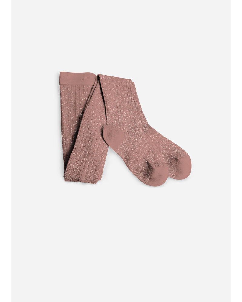 Collegien maillot lurex bois de rose