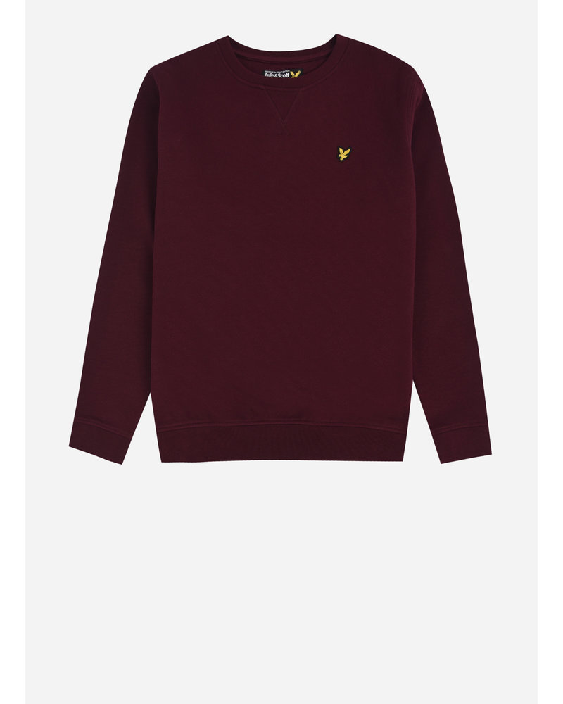 Lyle & Scott classic crew neck fleece winetasting