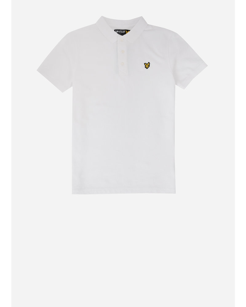 Lyle & Scott classic polo shirt bright white