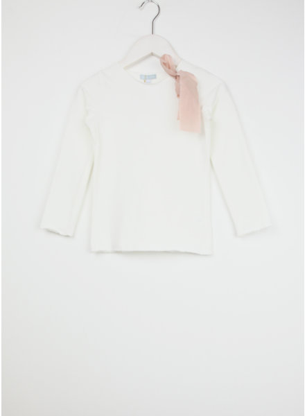 Club Cinq tremezzo bow long sleeve off white