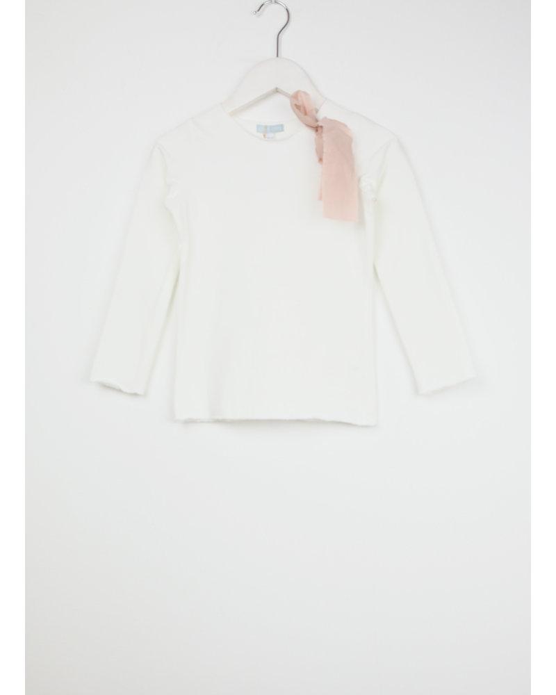 Club Cinq tremezzo bow long sleeve off white