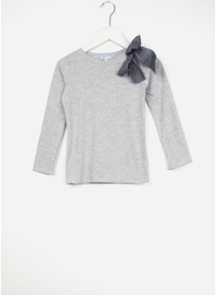 Club Cinq tremezzo bow long sleeve grey melee