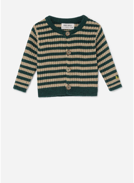 Bobo Choses striped knit cardigan