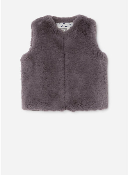 Bobo Choses saturn faux fur vest
