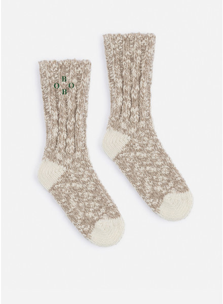 Bobo Choses grey bobo thick socks