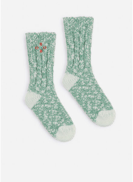 Bobo Choses green bobo thick socks