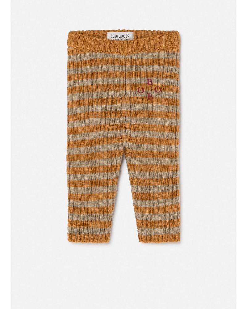 Bobo Choses bobo striped knitted leggings