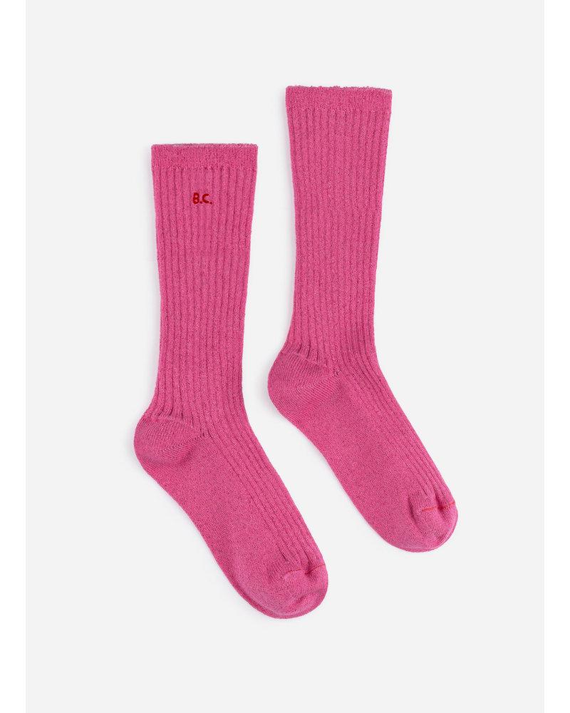 Bobo Choses bc pink lurex socks