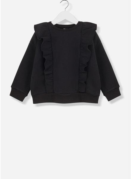 Kids on the moon ruffle sweater black 27B