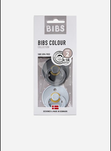 Bibs fopspeen natuurrubber iron - baby blue