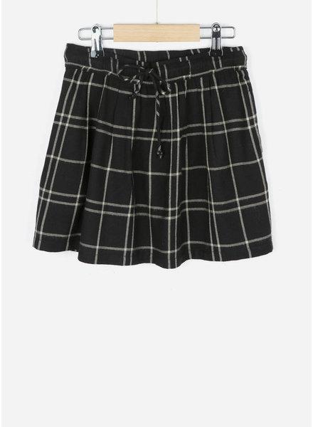 By Bar girls palino check skirt black