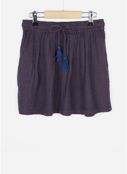 By Bar girls palino small check skirt blue berry