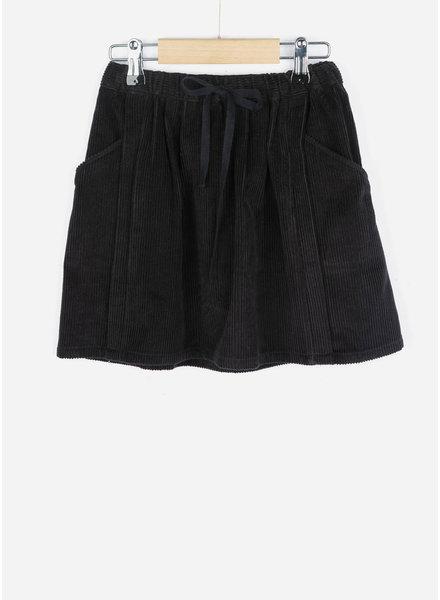 By Bar girls sally rib skirt jet black