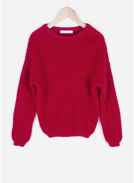 By Bar girls milou s pullover bright red