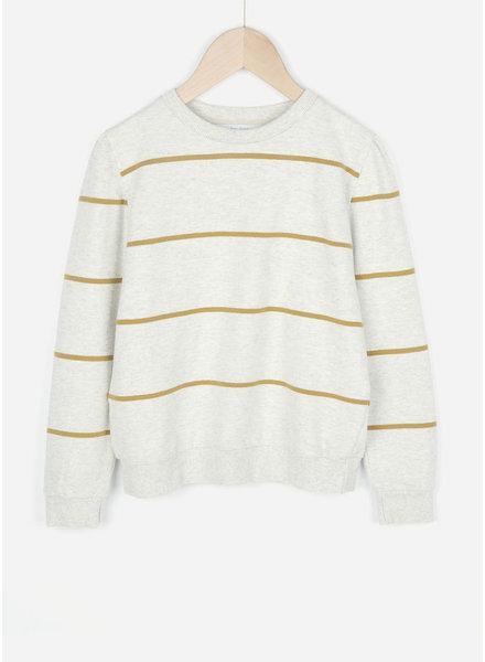 By Bar girls nikki stripe sweater mustard