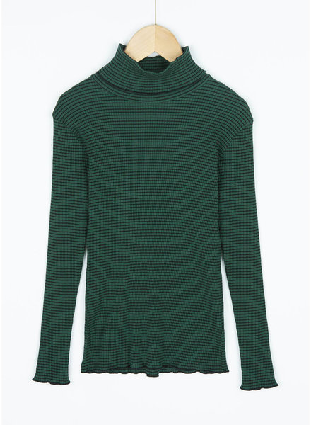 By Bar girls rib rollneck evergreen