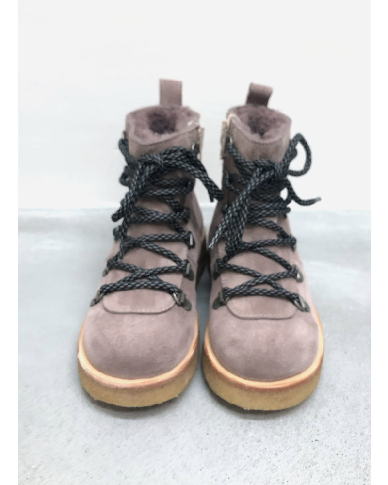 Angulus snow boot with laces and zipper - lavender