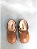 Angulus starter mary janes with heart and velcro - cognac