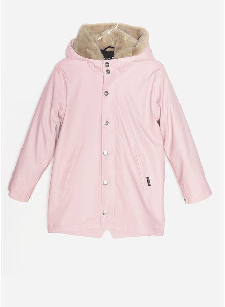 Gosoaky snake pit jacket - powder pink  safari fur