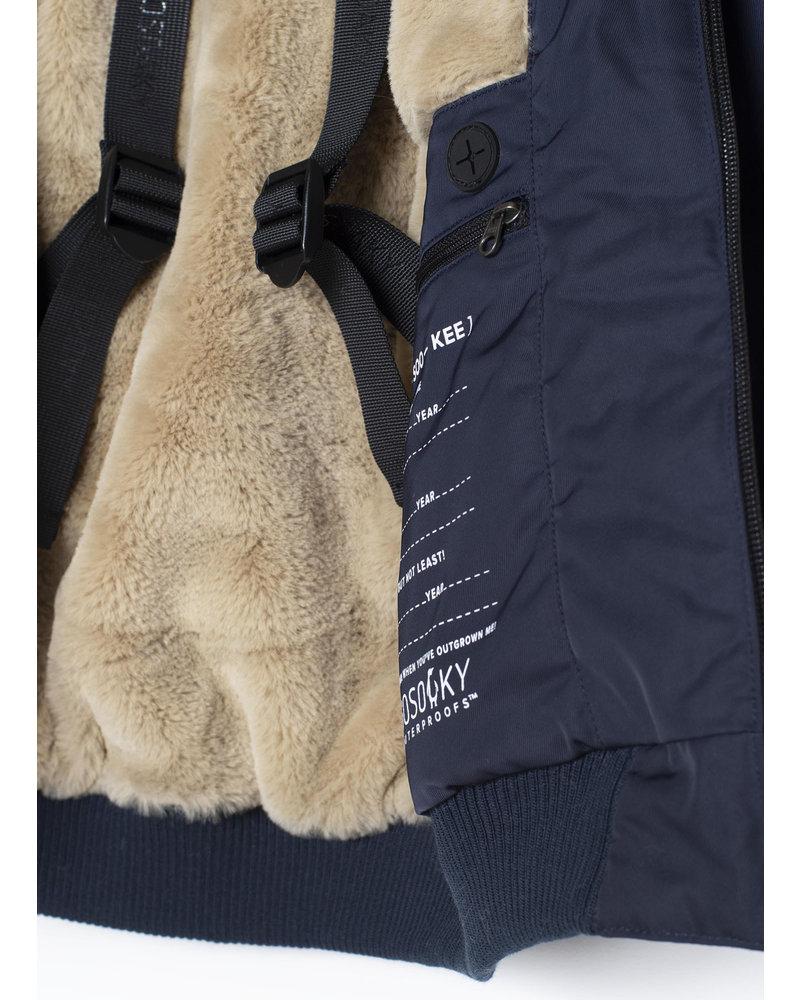 Gosoaky the grey fox bomber - mood indigo safari fur