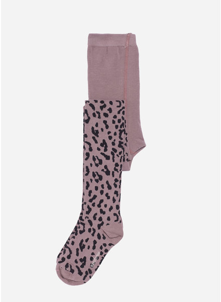 Maed for mini lilac leopard tights
