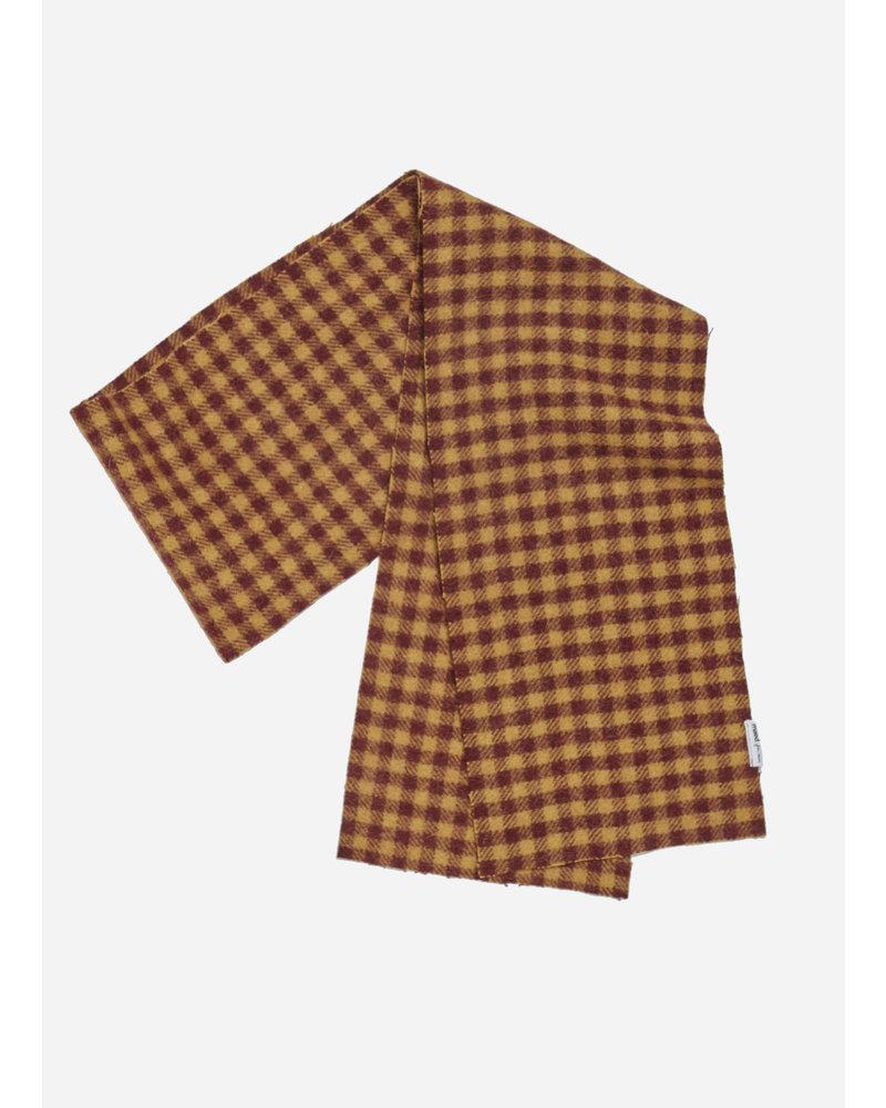 Maed for mini checkered cheetah scarf