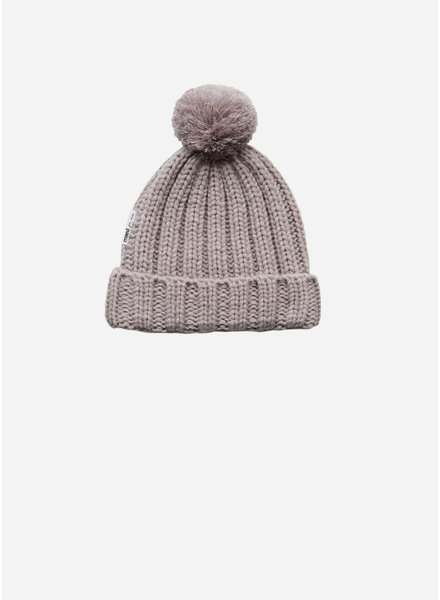 Maed for mini purple parrot knit hat