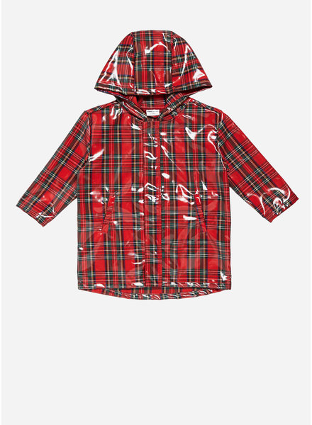 Maed for mini tartan termite rain coat