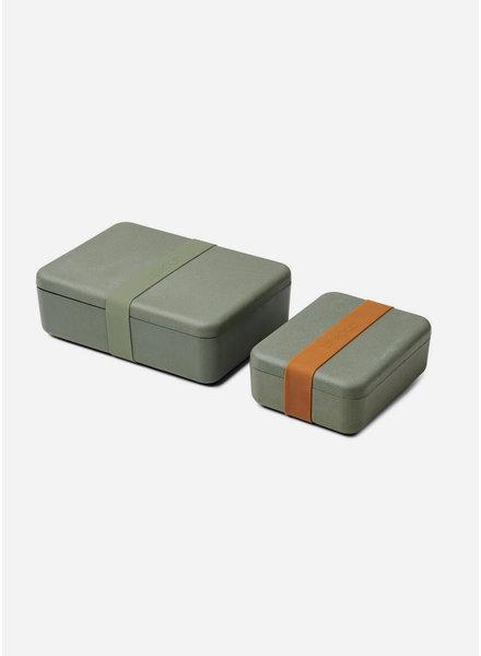 Liewood bradley lunchbox set faune green