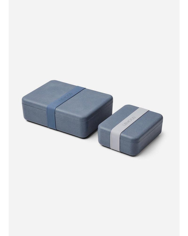 Liewood bradley lunchbox set blue wave