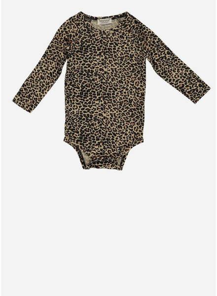 MarMar Copenhagen leo baby body ls brown leopard
