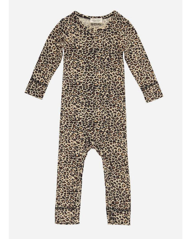 MarMar Copenhagen leo baby suit brown leopard