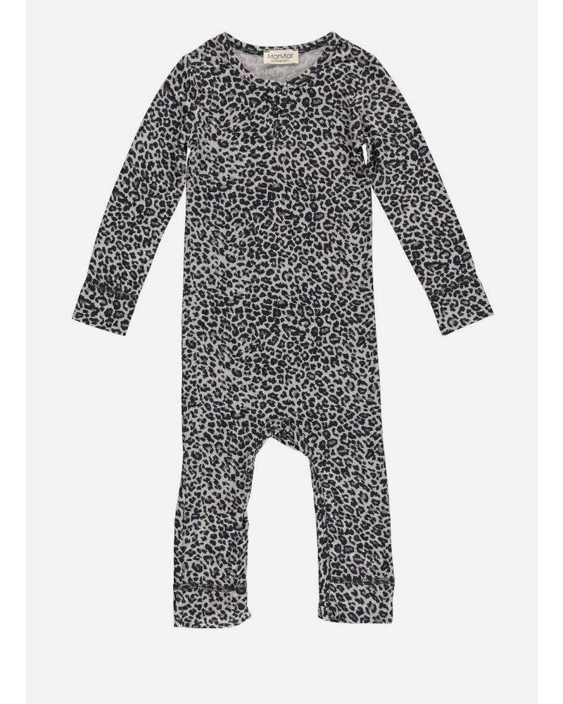 MarMar Copenhagen leo baby suit grey leopard