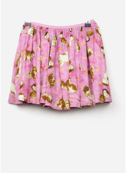 Morley mona catprint rose skirt
