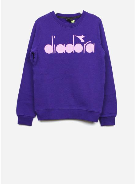 Diadora maglia felpa girl viola