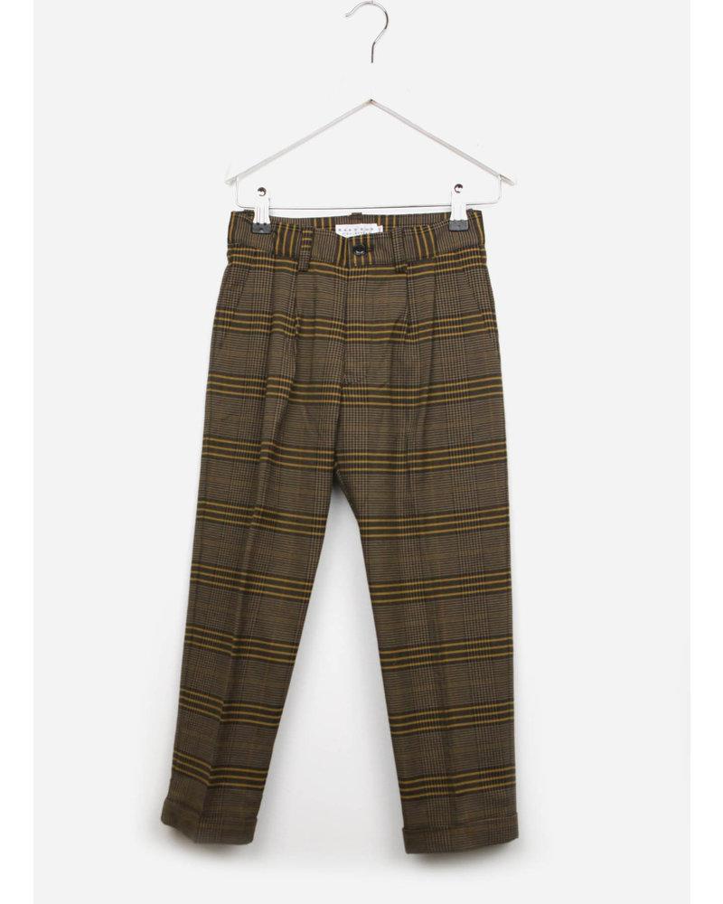 East end highlanders suit pants - beige/black