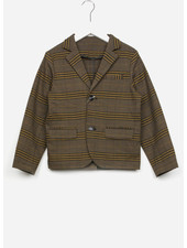 East end highlanders suit jacket - beige/black