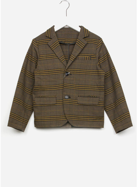 East end highlanders suit jacket - beige/black